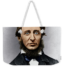 Weekender Tote Bag featuring the photograph Henry David Thoreau by Granger