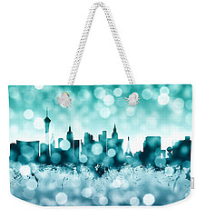 Las Vegas Nevada Skyline Weekender Tote Bag by Michael Tompsett
