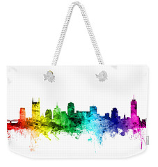 Nashville Tennessee Skyline Weekender Tote Bag by Michael Tompsett