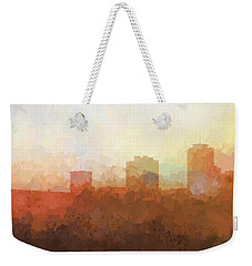 Weekender Tote Bag featuring the digital art New Orleans Louisiana Skyline by Marlene Watson