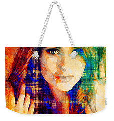 Nina Dobrev Weekender Tote Bag by Svelby Art