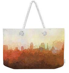 Weekender Tote Bag featuring the digital art Sacramento California Skyline by Marlene Watson