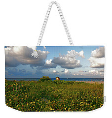 Weekender Tote Bag featuring the photograph 8- Sunflowers In Paradise by Joseph Keane