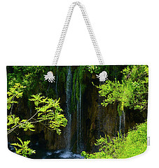 Waterfall In Plitvice National Park In Croatia Weekender Tote Bag