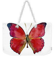 83 Red Glider Butterfly Weekender Tote Bag