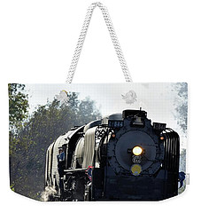 Weekender Tote Bag featuring the photograph 844 Head Down The Tracks by Mark McReynolds