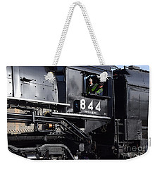 Weekender Tote Bag featuring the photograph 844 Steam Locomotive by Mark McReynolds