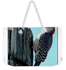 #8670 Woodpecker Weekender Tote Bag