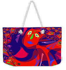 873 - Clown Lady Pop  -2017 Weekender Tote Bag by Irmgard Schoendorf Welch