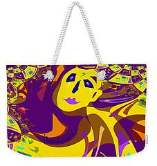 874 - Mellow Yellow Clown Lady - 2017 Weekender Tote Bag