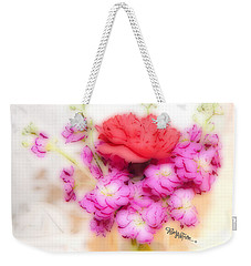 #8742 Soft Flowers Weekender Tote Bag