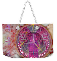 #8913_444 Angels Are Present  Weekender Tote Bag
