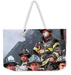 9/11 Firefighters Weekender Tote Bag by Kai Saarto