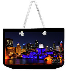 Weekender Tote Bag featuring the photograph 911 Tribute At Buckingham Fountain, Chicago by Zawhaus Photography