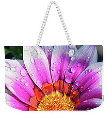 Weekender Tote Bag featuring the photograph Beautiful Gazania by Elvira Ladocki
