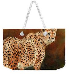 Cheetah Weekender Tote Bag by David Stribbling