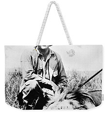 Weekender Tote Bag featuring the photograph Ernest Hemingway by Granger