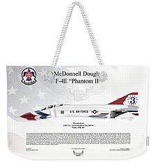 Mcdonnell Douglas F-4e Phantom II Thunderbird Weekender Tote Bag