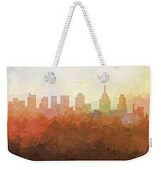 Weekender Tote Bag featuring the digital art Philadelphia Pennsylvania Skyline by Marlene Watson