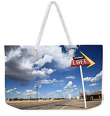 Route 66 Cafe Weekender Tote Bag by Frank Romeo