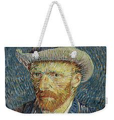 Self-portrait With Grey Felt Hat Weekender Tote Bag