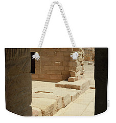 Weekender Tote Bag featuring the photograph temple of Isis by Silvia Bruno