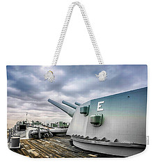 Uss Alabama Weekender Tote Bag by Chris Smith