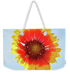 Weekender Tote Bag featuring the photograph Yellow Flower by Elvira Ladocki