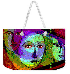 905 - A Certain Glare In The Eyes - 2017  Weekender Tote Bag by Irmgard Schoendorf Welch