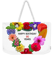 90th Birthday Weekender Tote Bag