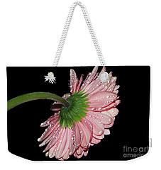 Pink Gerber Weekender Tote Bag by Elvira Ladocki