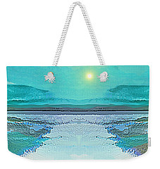 - 938 - Abstract Seascape - 2017  Weekender Tote Bag by Irmgard Schoendorf Welch