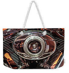 Weekender Tote Bag featuring the photograph 96 Cubic Inches Softail by Randy Scherkenbach