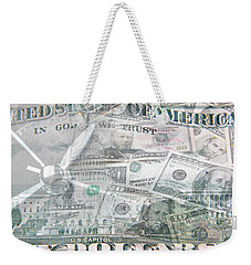 Weekender Tote Bag featuring the photograph Time Is Money  by Les Cunliffe