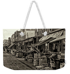 Weekender Tote Bag featuring the photograph 9th Street Italian Market - Philadelphia Pennsylvania by Bill Cannon