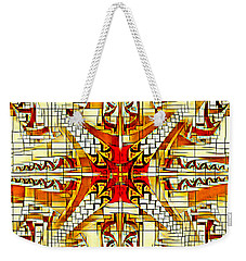 Weekender Tote Bag featuring the digital art A Aduncus Mentem A Chao by Lita Kelley