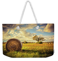 A Bale Of Hay And A Tree Weekender Tote Bag