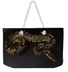 A Ball Python Python Regius Weekender Tote Bag