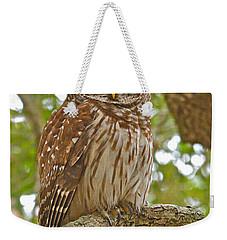 A Barred Owl Weekender Tote Bag