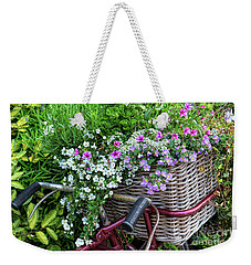Weekender Tote Bag featuring the photograph A Basket Of Flowers by Tim Gainey