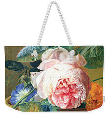 A Basket With Flowers Weekender Tote Bag by Jan van Huysum