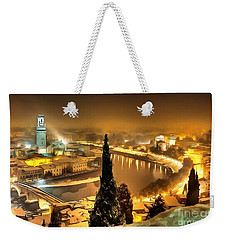 A Beautiful Blonde In Thick Paint Weekender Tote Bag