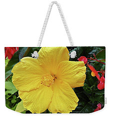 A Beautiful Flower Weekender Tote Bag by Vickie G Buccini