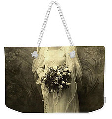 A Beautiful Vintage Photo Of Coloured Colored Lady In Her Wedding Dress Weekender Tote Bag by R Muirhead Art