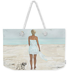 Weekender Tote Bag featuring the painting A Beautiful Walk by Leslie Allen