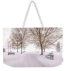 Weekender Tote Bag featuring the photograph A Beautiful Winter's Morning  by John Poon