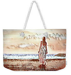 Weekender Tote Bag featuring the digital art A Beautiful World by Pennie McCracken