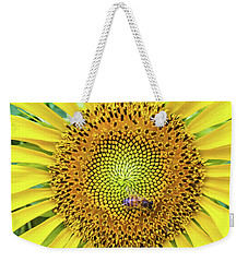 A Bee On A Sunflower Weekender Tote Bag