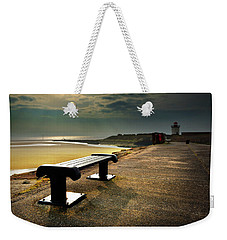 A Bench By The Sea Weekender Tote Bag