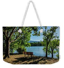 A Bench Overlooking Vasona Lake Weekender Tote Bag